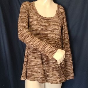 Knox Rose Long Sleeve XS Brown Boho Sweater
